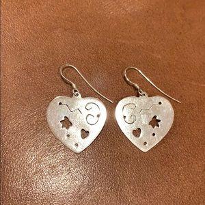 Jewelry - Heart earrings 925